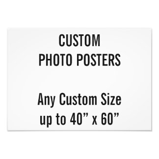 """Custom A3 Photo Poster, up to 40"""" x 60"""""""