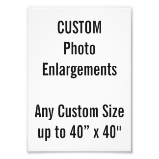 "Custom A5 Photo Enlargement up to 40""x40"""