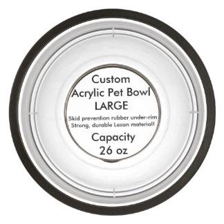 Custom Acrylic Pet Bowl - Large 26oz