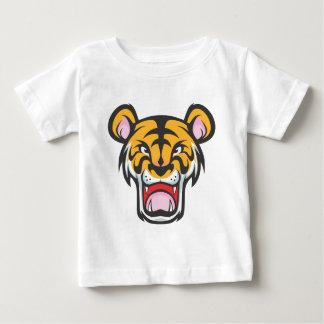 Custom Angry Tiger Cartoon Baby T-Shirt