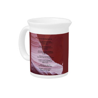 Custom Apache Wedding Blessing, Sandstone Canyon Pitcher