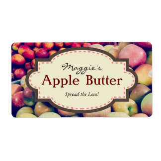Custom Apple Labels for Baking