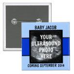 Custom Baby Boy Ultrasound Photo Buttons