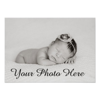 Custom Baby Photo Print For Nursery Decor Gift