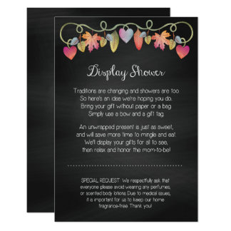 Custom Baby Shower Display Card
