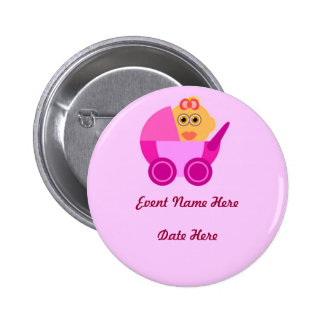 Custom Baby Shower Favors Pinback Buttons