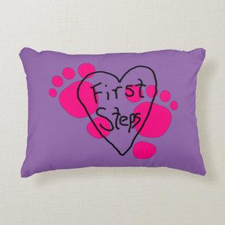 Custom Baby's First Steps Decorative Cushion