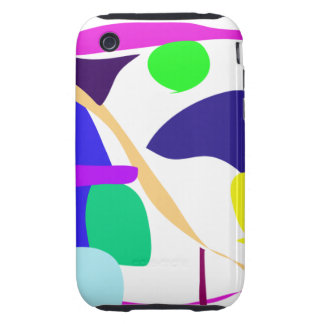 Custom Background Color Free Circle Tough iPhone 3 Case
