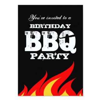 Custom backyard BBQ Birthday party invitations