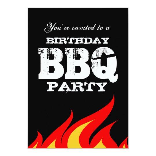 custom backyard bbq birthday party invitations zazzle co nz