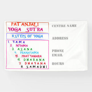 Custom BANNER DIY Template YOGA MEDITATION CENTRE