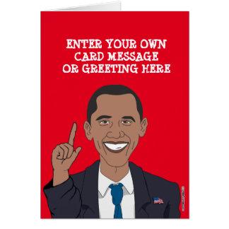 Custom Barack Obama Cartoon Card