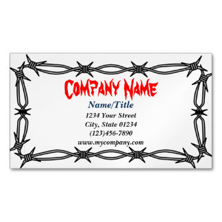Custom Barbed Wire Magnetic Business Card Magnetic Business Cards