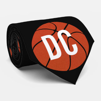 Custom Basketball Coach School Letters or Number Tie