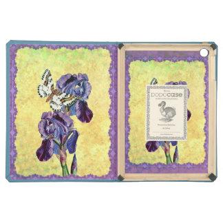 Custom Beautiful Purple Iris Flowers Butterfly Cover For iPad Air