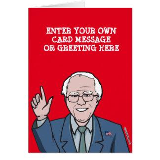 Custom Bernie Sanders Cartoon Card