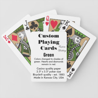 Custom Bicycle® Playing Cards - Green