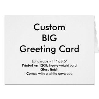 "Custom Big Greeting Card - Landscape 11"" x 8.5"""