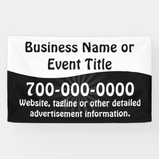 Custom Black and White Business Advertising Banner