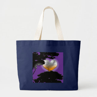 Custom Black New Moon Large Tote Bag