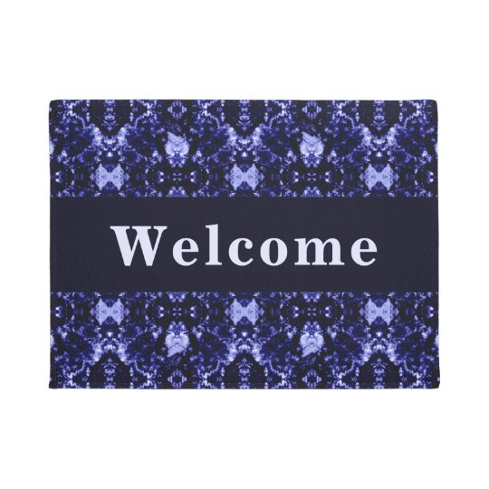 Custom Blue Abstract Pattern Doormat