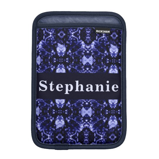 Custom Blue Abstract Pattern iPad Mini Sleeve