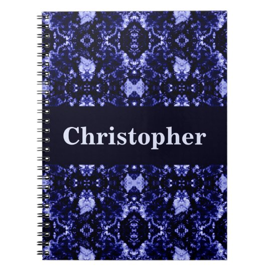 Custom Blue Abstract Pattern Notebook