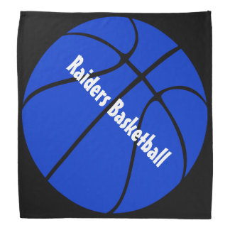 Custom Blue and Black Basketball Bandana
