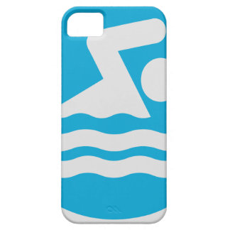 Custom Blue and White Swim Decal Phone Case