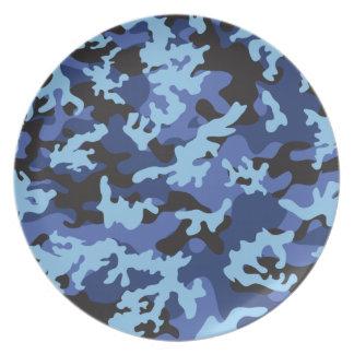 Custom Blue Camo Plate