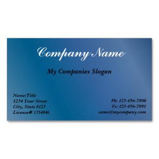 Custom Blue Gradient Magnetic Business Card Magnetic Business Cards