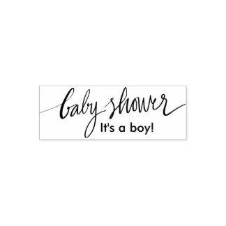 Custom boy or girl baby shower self inking stamp
