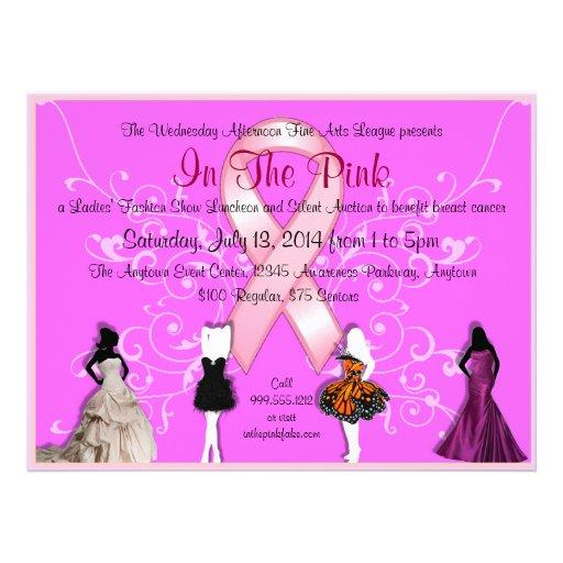 Custom Breast Cancer Event Invitations