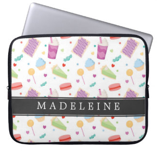 Custom Bright Sweet Treats Laptop Sleeve