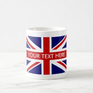 Custom British Union Jack flag coffee mugs