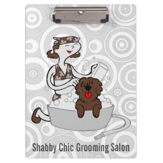 Custom Brown Groom On for Pet Groomers Clipboards