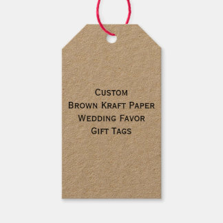 Custom Brown Kraft Paper Wedding Favor Gift Tags