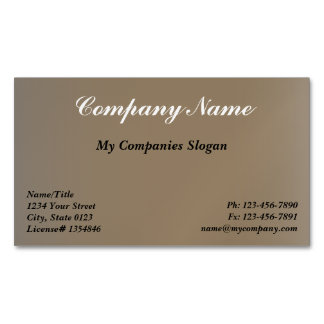 Custom Brown Stone Magnetic Business Card Magnetic Business Cards