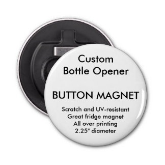 Custom Button Magnet Bottle Opener