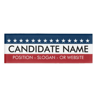 Custom Campaign Gear with Name and Text Name Tag