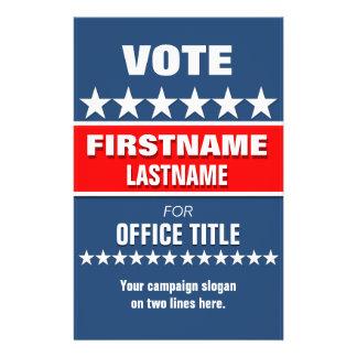 Custom Campaign Political Template 14 Cm X 21.5 Cm Flyer