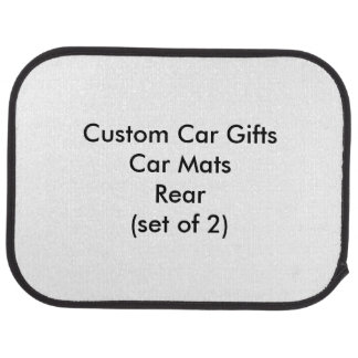 Custom Car Gifts Car Mats Rear (set of 2) Floor Mat