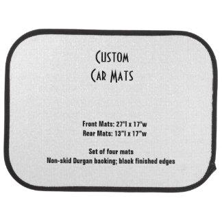Custom Car Mats  Set of 4 Template Car Mat