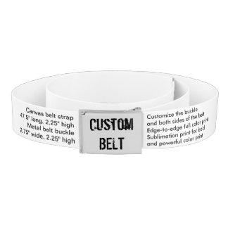 "Custom Casual Belt 47.5"" long, 2.25"" high"
