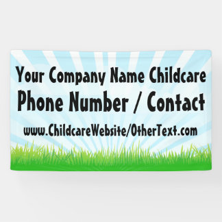 Custom Childcare Daycare Business Sign Banner
