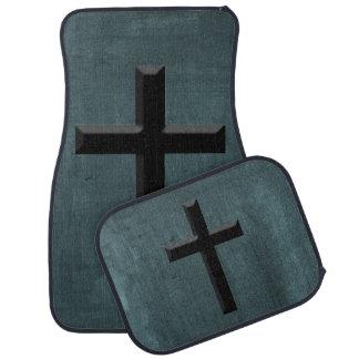 Custom Christian God Gift Cross Car Mat