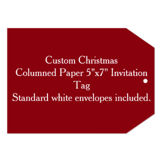 "Custom Christmas Columned Paper 5""x7"" Invitation"