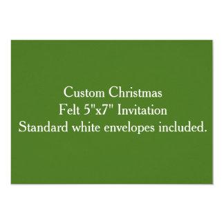"""Custom Christmas Felt 5""""x7"""" Invitation"""
