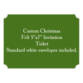 "Custom Christmas Felt 5""x7"" Invitation"