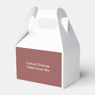 Custom Christmas Gable Favour Box